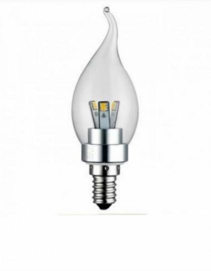 E14 LED Kaarslamp 3 Watt dimbaar Transparant (Vervangt 20-25W)