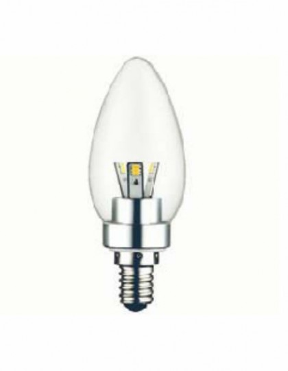 E14 LED peerlamp 3 Watt dimbaar Transparant (Vervangt 20-25W)
