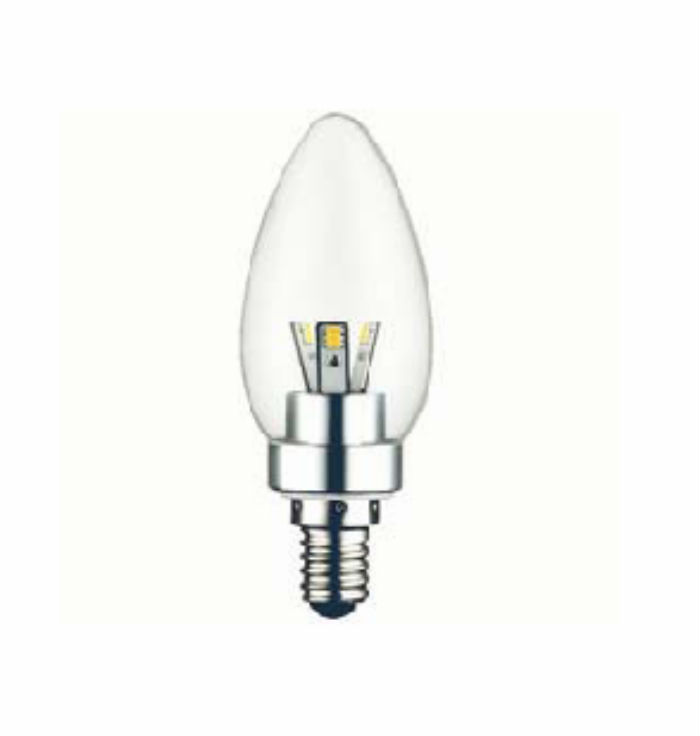 E14 LED Candle<br />Transparant 3 Watt<br />dimbaar