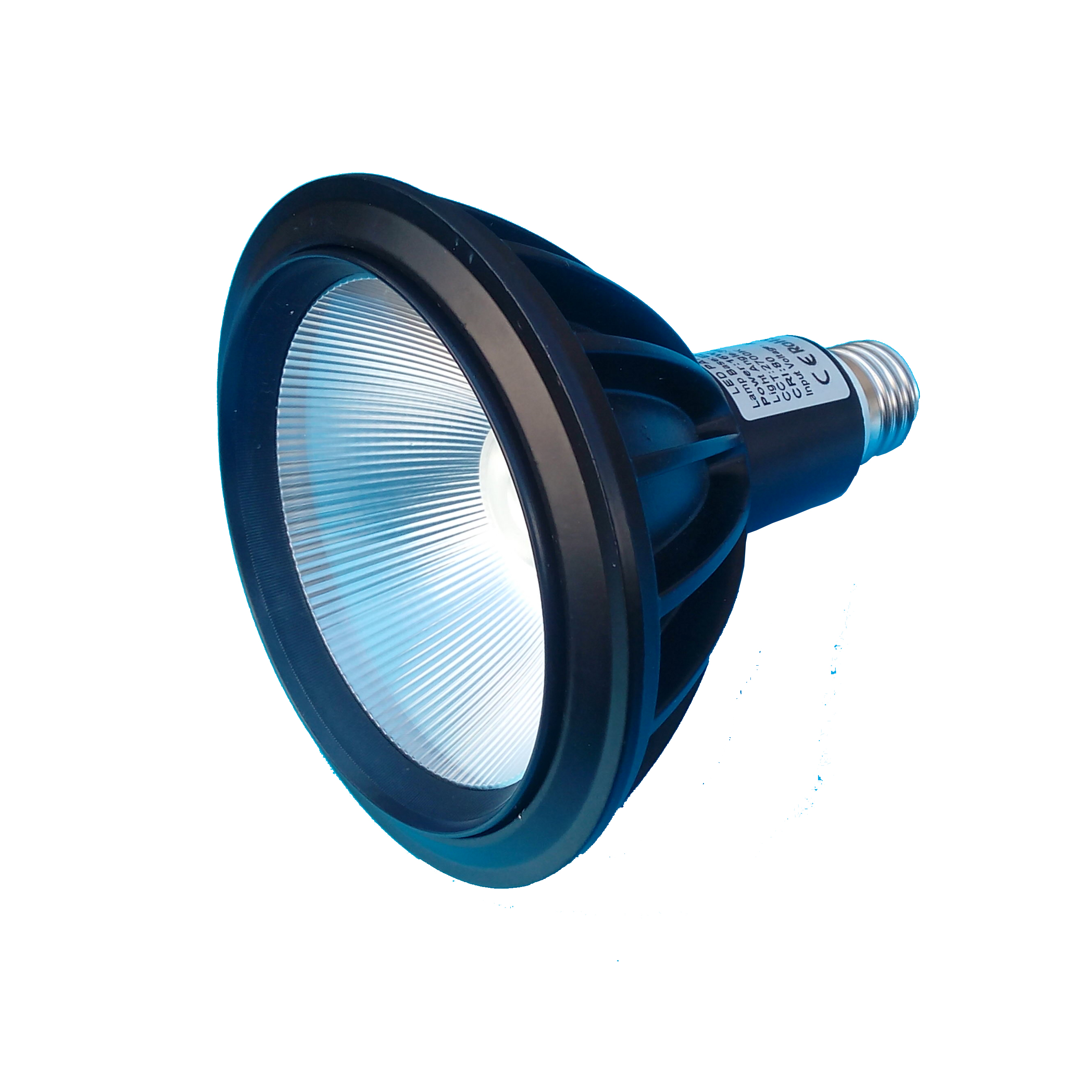 PAR38 COB LED Spot 230V<br /> E27 16 watt (vervangt de 100W)<br /> Warm wit