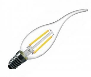 E14 LED Flame filament<br />2 Watt dimbaar