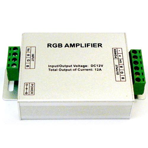 LED Strip Versterker RGB 12-24V DC 24A