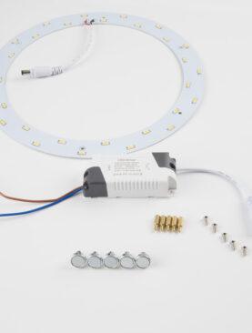 Ombouwset Plafonniere naar <br/>LED 15W warm wit 2700K