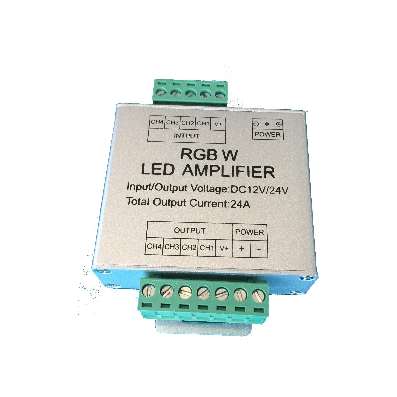 LED Strip Versterker RGBW 12-24V DC 24A