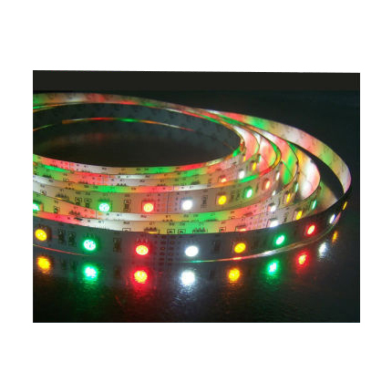 LED Strip RGBW 24V<br />60 LED's 14,4W/m<br />warmwit IP65