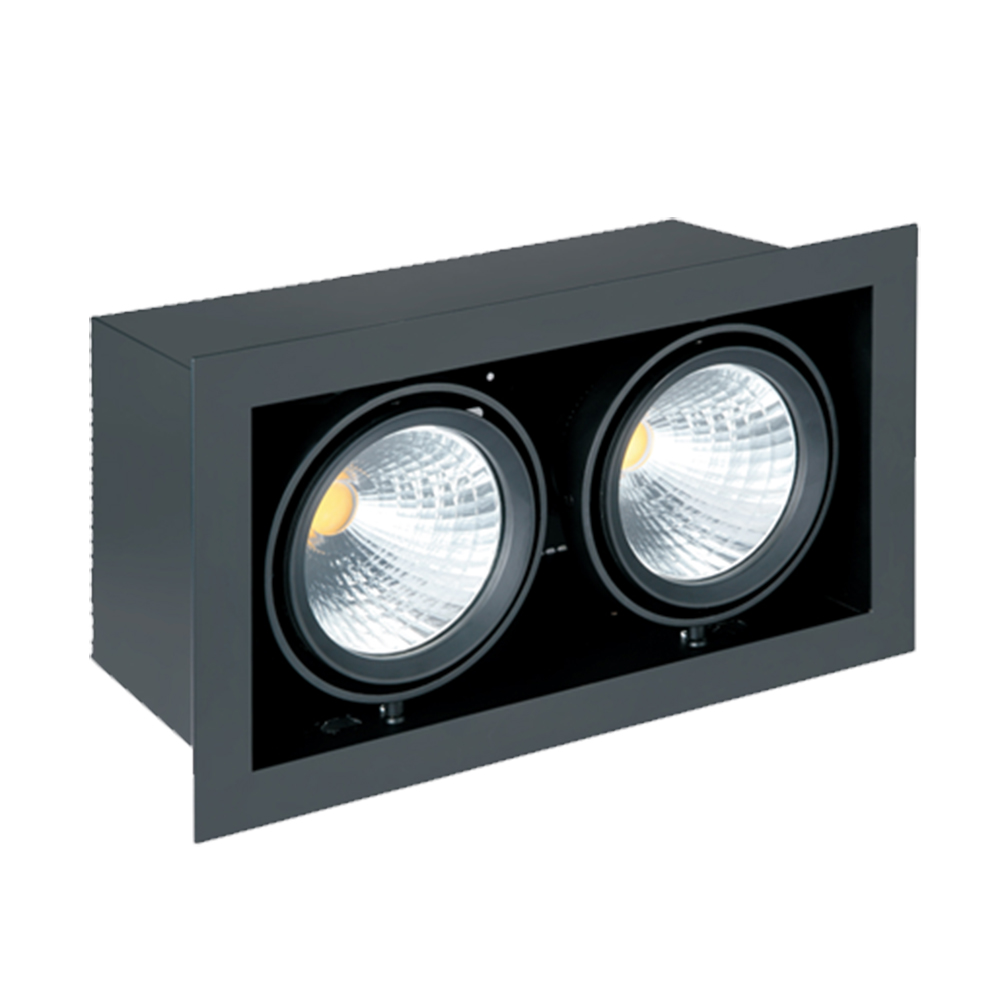 LED Downlight Square 2-voudig 2*35W<br />